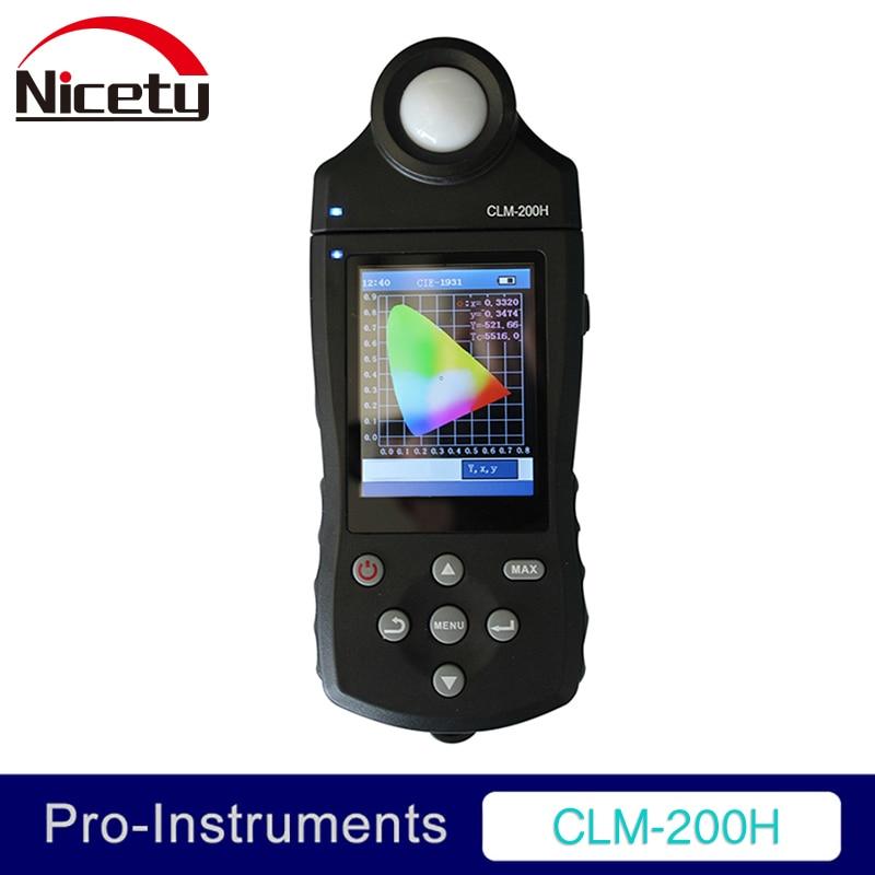 CLM-200H Temperatura di Colore Illuminamento Purezza Flusso Luminoso RGB Dominante Lunghezza D'onda LED bianco ELED Chroma Meter Nicety