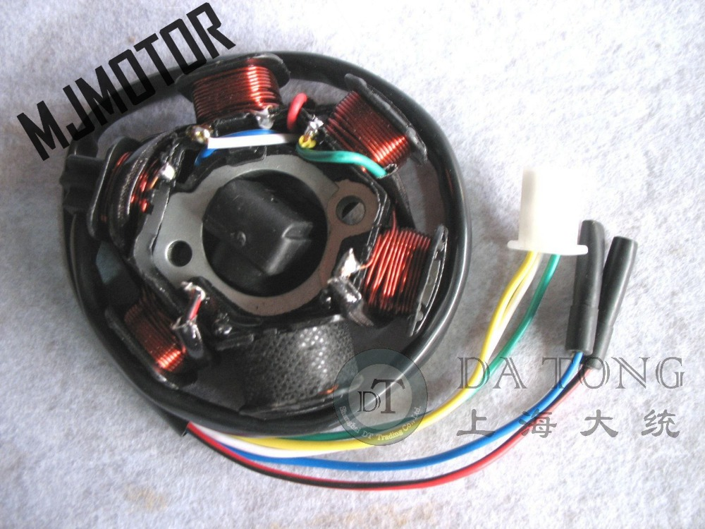 Coil Stator Magneto Alternator Stator For Chinesse Gy Cc Qmi Qj Keeway Scooter Honda Yamaha on Gy6 150cc Parts