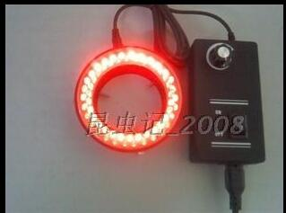 NEW Arrival 60 LED Ring Light Adjustable Illuninator Lamp For Stereo Zoom Microscope with Adapter RED light  free shipping  цены
