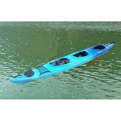 5.8m długość 3 osoba profesjonalny duża odległość Ocean łodzi kajak kajak łódź rybacka z twardego tworzywa sztucznego  odporna na zużycie łódź EKSIT58001|Łodzie wioślarskie|   -
