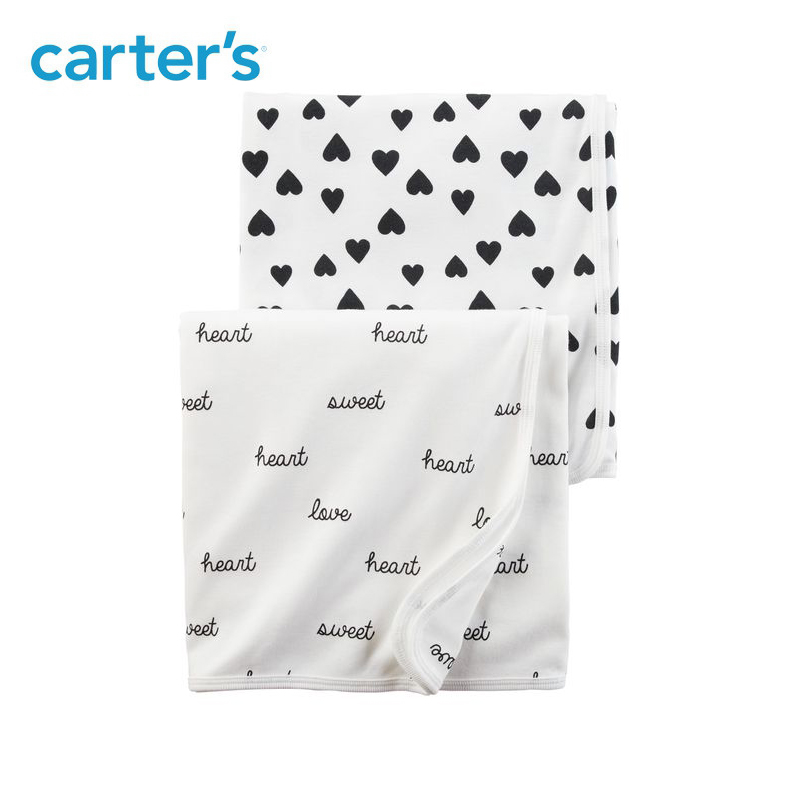 Carters 2 Pack Baby Children Kids Clothing Girl Babysoft Swaddle