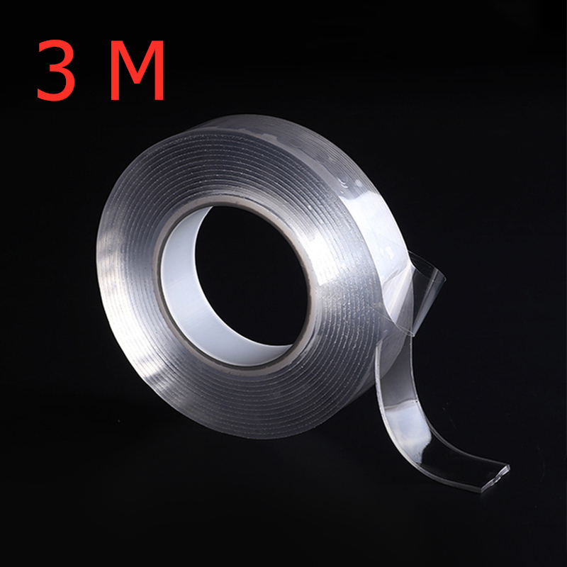300cm Transparent Silicone Double Sided Tape Sticker Nano-free Magic Tape Anti-slip Fixed Adhesive Washable Recyclable Tapes300cm Transparent Silicone Double Sided Tape Sticker Nano-free Magic Tape Anti-slip Fixed Adhesive Washable Recyclable Tapes