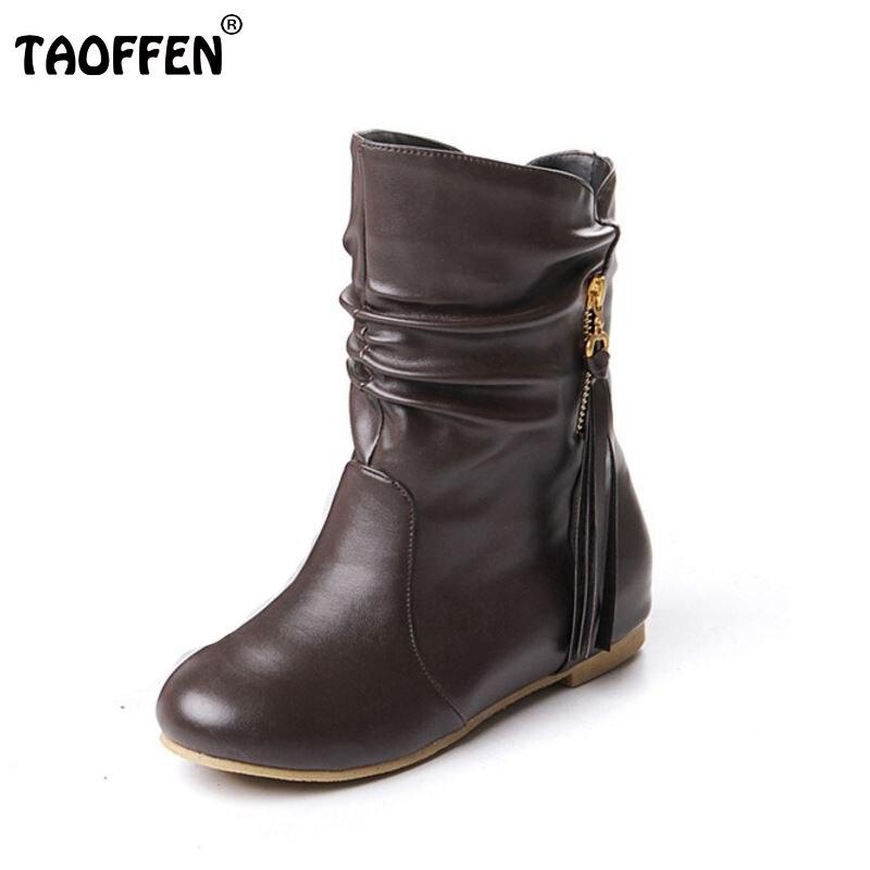 women flat half short boots winter snow boot fashion quality footwear warm botas feminina shoes P1880