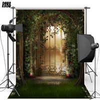 DAWNKNOW fleur contes de fées pour enfants vinyle photographie fond jardin Polyester toile de fond pour nouveau-né Studio Photo F1640