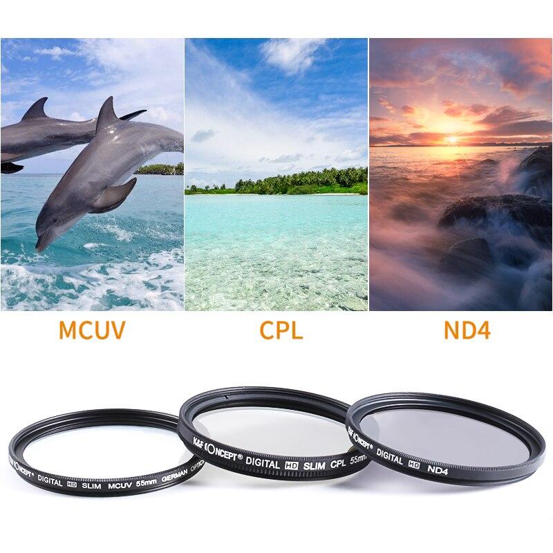 K F Concept 52mm 55mm 58mm 67mm 77mm 82mm Uv Cpl Nd4 Lens Filters