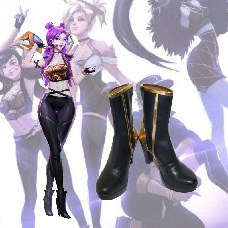 Game LOL K/DA Daughter of the Void Kaisa Cosplay K/DA Kaisa shoes Cosplay Custom men's and women's cartoon shoes