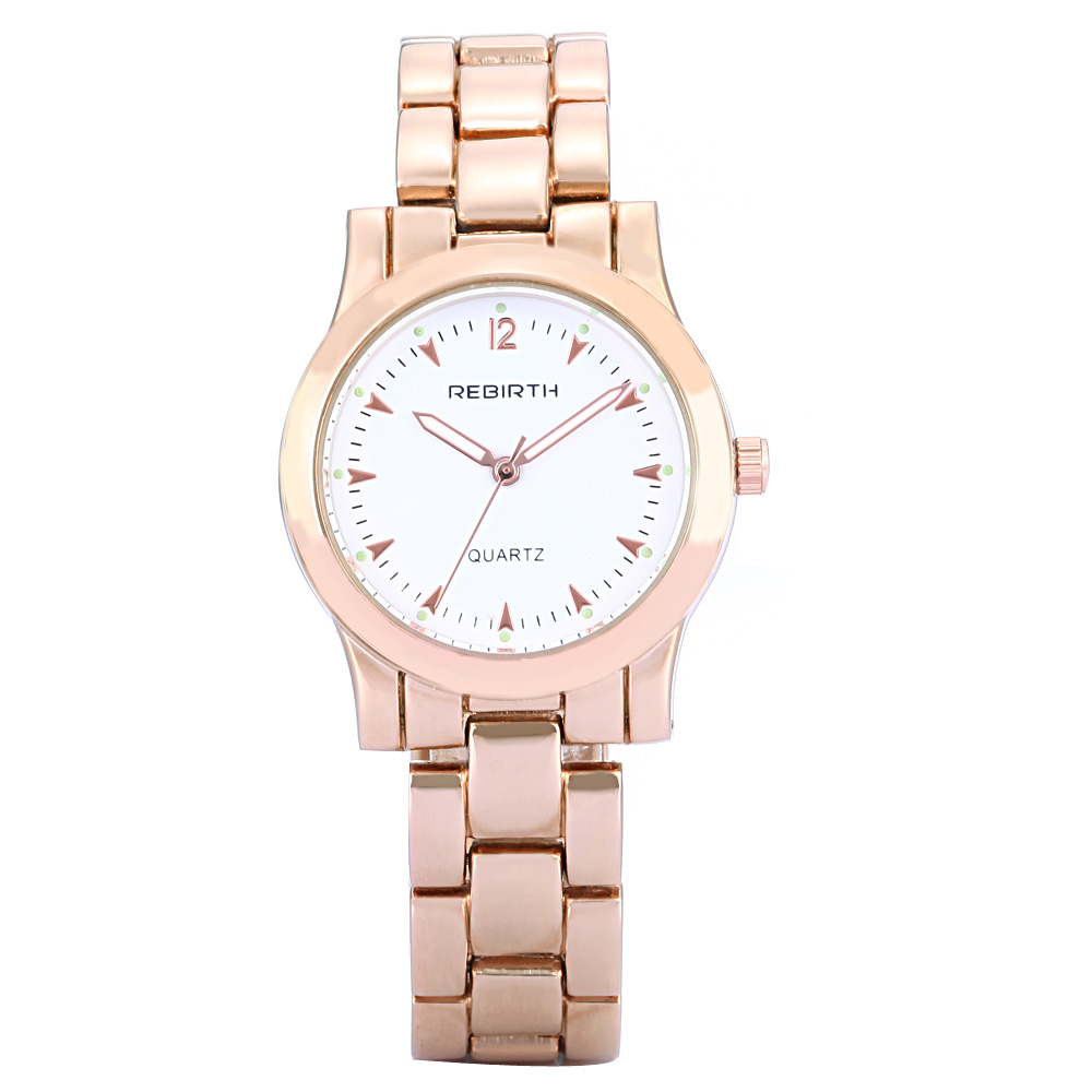 Top Brand Luxury REBIRTH Waterproof Ladies Rose Gold Bracelet Watch Women Dress Quartz Watches Elegant Wrist Watch Relojes Mujer fashion brand crrju watches women ladies crystal diamond quartz watch luxury rose gold wrist watches for women relojes mujer