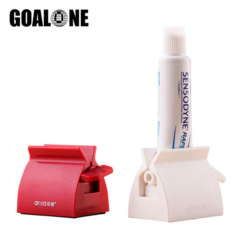 GOALONE New Rolling Squeezer Toothpaste Dispenser Tube Roller Toothpaste Holder Plastic Toothpaste Squeezer Bathroom Accessories