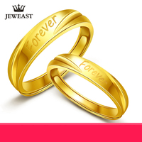 24K Pure Gold Ring Real AU 999 Solid Gold Rings Nice Forever Letter Upscale Trendy Classic Party Fine Jewelry Hot Sell New 2018