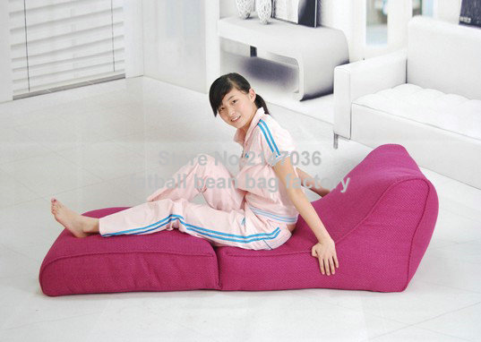 Pink folding bean bag chair, living room fold beanbag lounger sofa seat,outdoor and indoor polyester waterproof home furniture