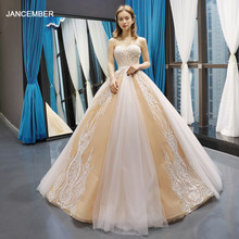J66773 jancember quinceanera vestidos 15 Ball gown ชั้น Strapless ความยาว appliques vestidos de quinceaneras 2019(China)