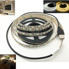 Led Stripe 5V IP65 USB Cable Waterproof light lamp SMD3528 Led Tape Christmas Flexible Led Stripe TV Background Lighting 60Meter