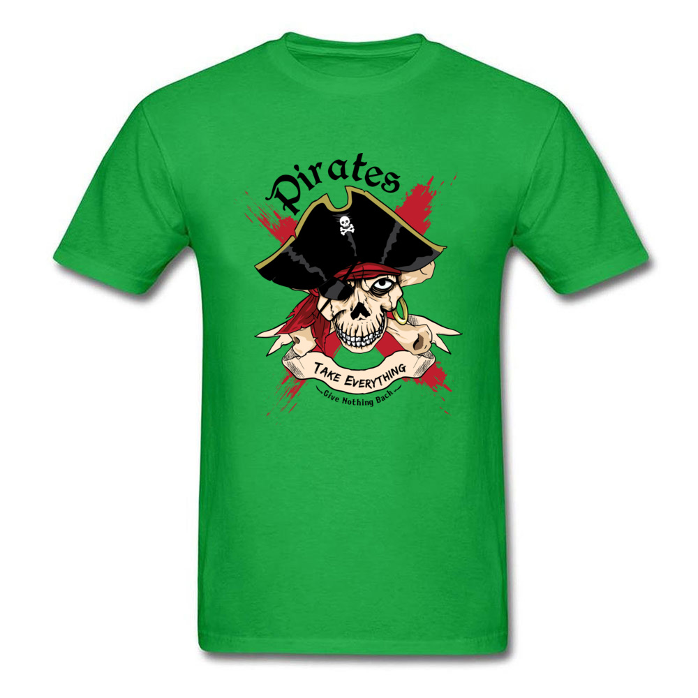 Family PIRATE Normal Short Sleeve T Shirt Lovers Day O-Neck Cotton Fabric Tops T Shirt for Boys T Shirt Casual PIRATE green