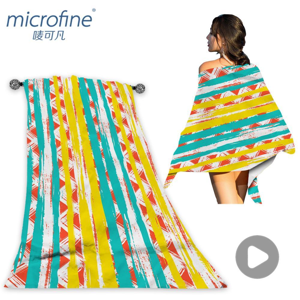Microfine Microfiber Beach Towel Large Gym Sport Swimming Pool Towel Women 70x140 Big Towel Mat Fashion Summer Surf Robe Blanket