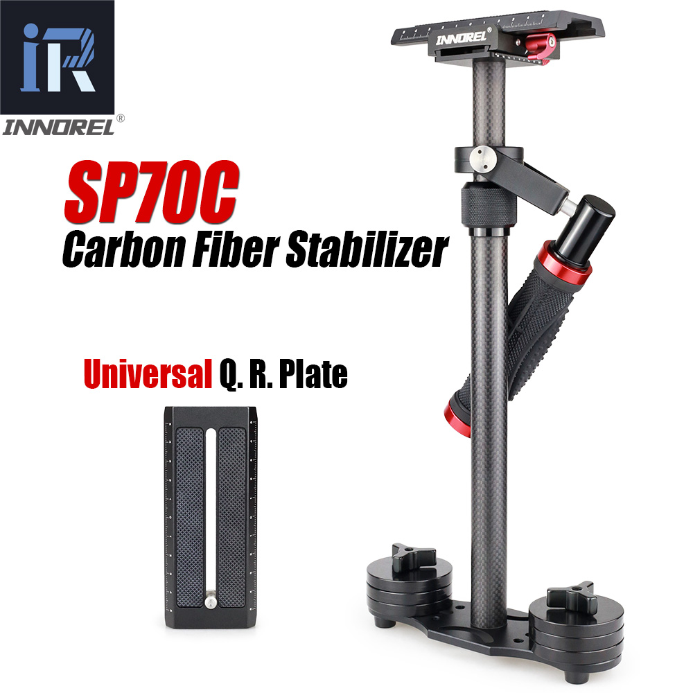 SP70C Professional Portable Carbon Fiber Mini Handheld Camera Stabilizer DSLR Camcorder Video Steadicam Better than S60T handheld camcorder stabilizer s60t carbon fiber steady stabilizer for canon professional camera stable device