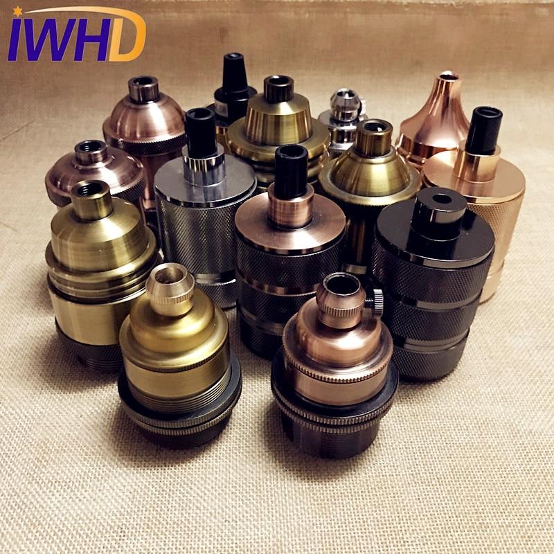 Portalampada Vintage E27 Lamp Holder Fitting Industrial Style Douille E27 Vintage Lamp Socket Edison Pendant Lampholder Base