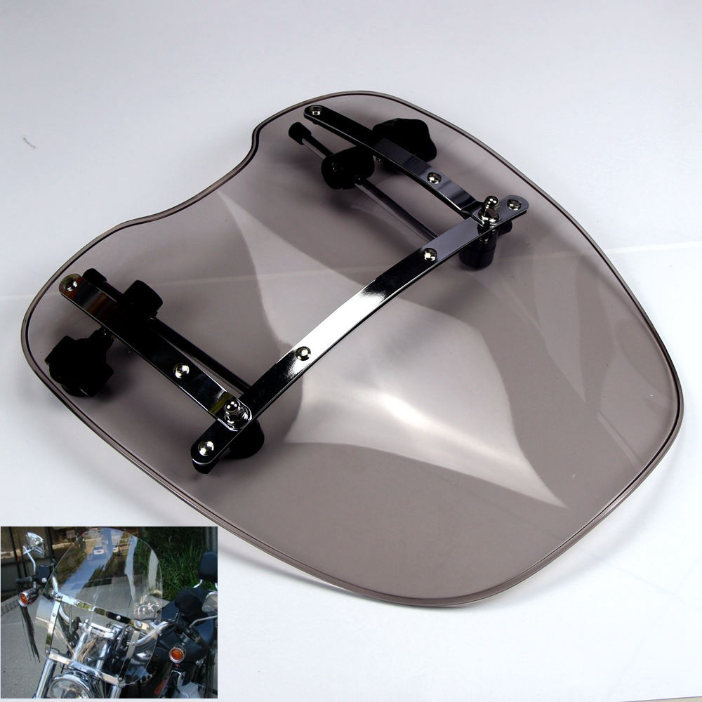 Smoke&Clear Motorcycle Windshield Windscreen for Harley Davidson Sportster Dyna Glide Softail XL 883 1200 aftermarket free shipping motorcycle parts brake clutch lever fit for harley davidson davidson xl sportster 883 1200 softail cd