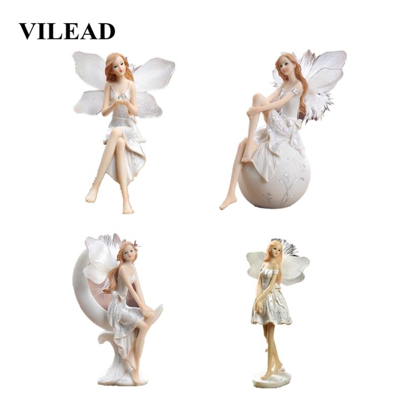 VILEAD 17cm 18cm 22cm Resin Moon Angel Figurines European Creative Ornaments Character Beautiful Wedding Gifts DecoracionS Hogar