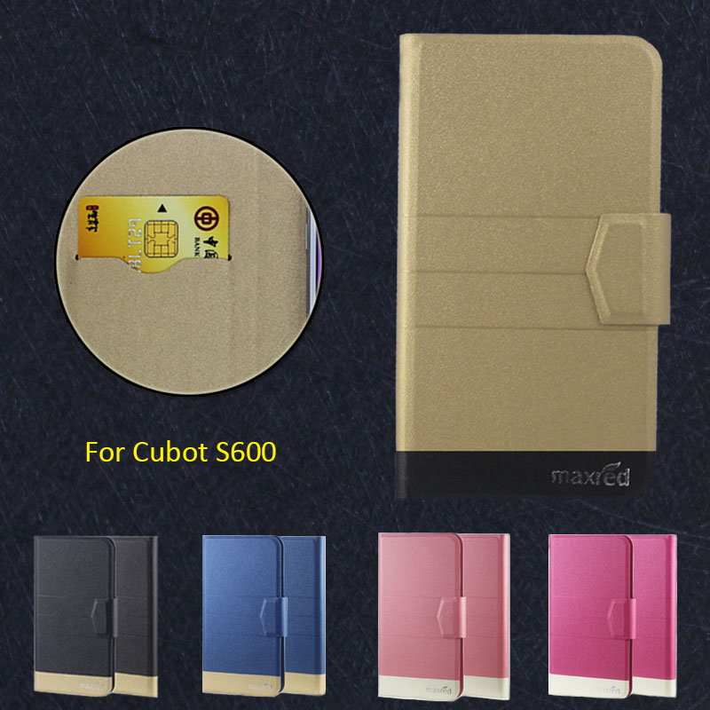 2016 Super! <font><b>Cubot</b></font> <font><b>S600</b></font> Phone Case, 5 Colors High quality Full Flip Fashion Customize Leather Luxurious Phone Accessories image