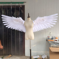 Cosplay costumes white nice angel wings beautiful fairy wings Wedding bar decorations props EMS free shipping