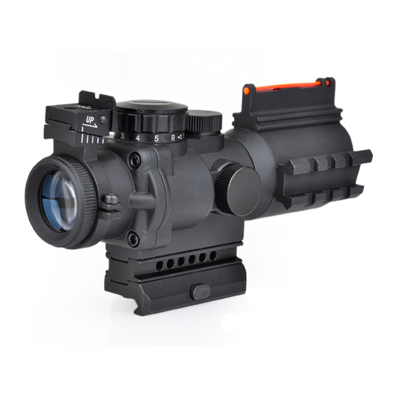 AIM Sniper LT 4x32 Red Green Dot Sight With Laser Airsoft Tactical Shooting Hunting Rifle Scope AO3037 3 10x42 red laser m9b tactical rifle scope red green mil dot reticle with side mounted red laser guaranteed 100%