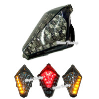 waase For Yamaha YZF R1 2007 2008 Chrome Tail Light Brake Turn Signals Integrated LED Light