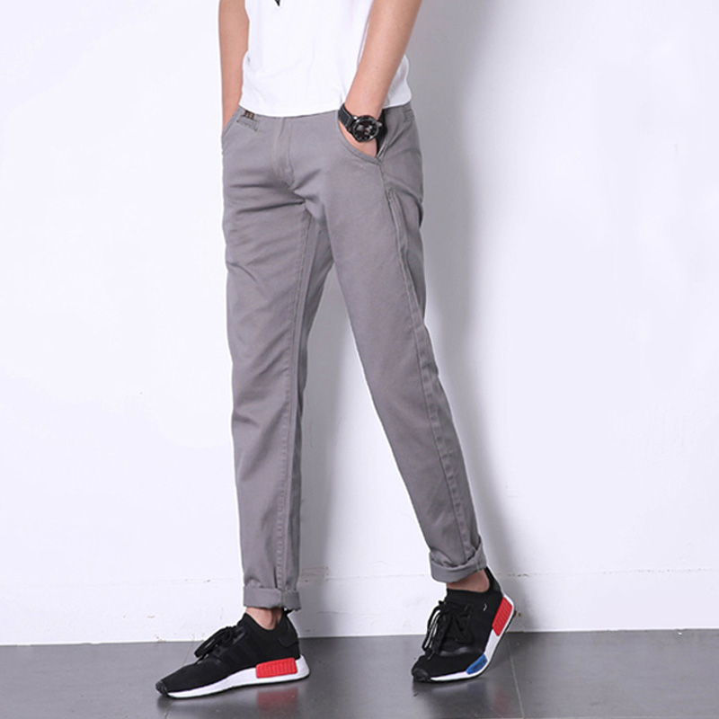 Korean Style Slim Fit Fashion Men Jeans Casual Pants Brand Clothing Summer Classic Denim Leisure Jeans Trousers Full Size 28-40 new printing jeans men s slim feet pants korean flower pants nightclubs hairdressers thin style summer mens trousers size 28 38