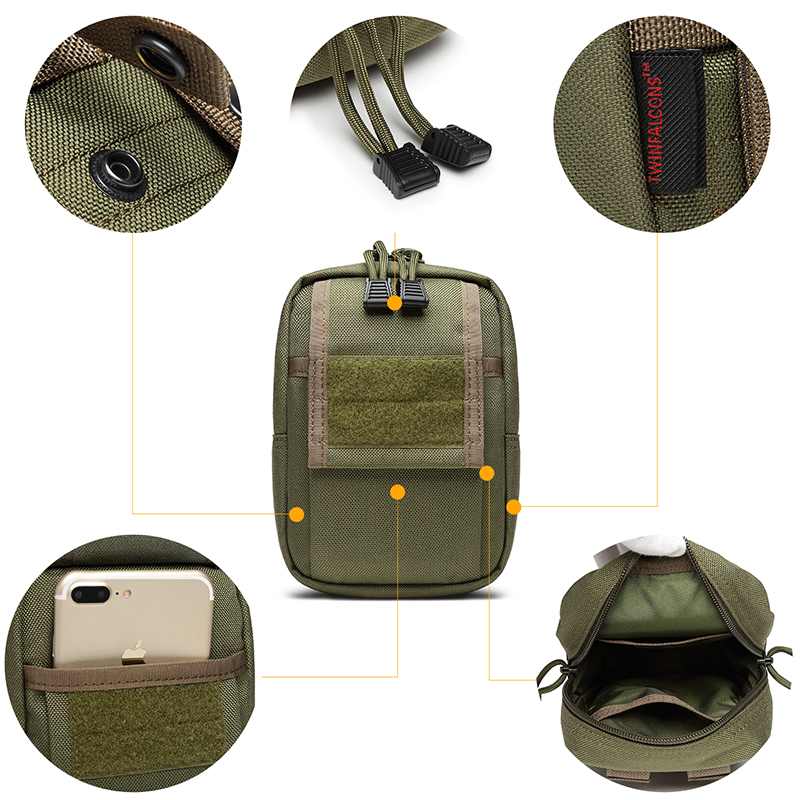 1000D MOLLE EDC Pouch DSLR Tactical Waist Pack Water Proof CORDURA Outdoor Hunting Camp Hike Hiking Military TW-P013