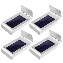 Ledertek 4pcs 16 LED Solar Power Motion Sensor Solar Garden Light Lamp