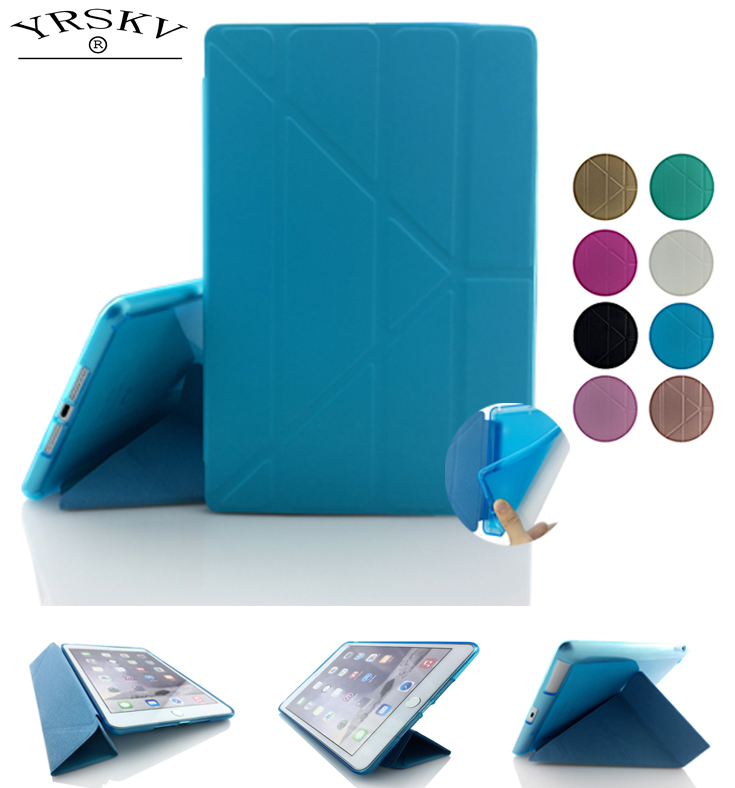 Case For iPad Air 2 YRSKV High Quality TPU Smart Sleep Cover , Ultra Slim Designer Tablet PU Leather Cover For Apple iPad Air2 new luxury ultra slim silk tpu smart case for ipad pro 9 7 soft silicone case pu leather cover stand for ipad air 3 ipad 7 a71
