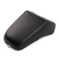 For Harley Fat Boy FLSTF FLSTC 2009 2014 Motorcycle Rear Passenger Seat Cushion Pillion Leather Pad Cover BLACK