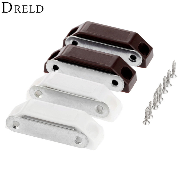 Dreld 2pcs 5916mm Magnetic Door Catches Kitchen Cupboard Wardrobe