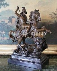 Saint George Slayer Rzymski Żołnierz Wojskowy Saint Brąz Marmurowy Posąg Smoka|statue soldier|statue marblestatue roman -