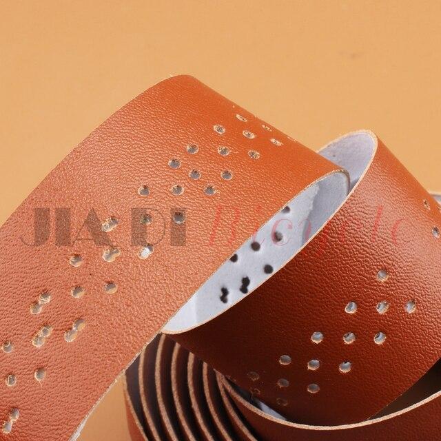 MUQZI Fixed Gear Road Bike Handlebar Tape Straps PU Leather Put the Belt Sweat Absorption Hollow Breathable Winding Belt 1.9M 2