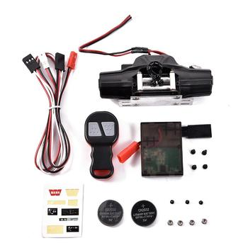 Metal Automatic Double Motor Simulated Winch for 1 to 10 Remote Control Crawler Car Axial SCX10 TRX4 RC4WD D90 D110