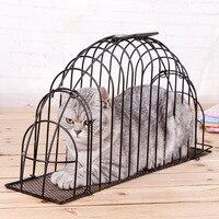 Top Qulity Metal Portable Carry Cat bath pet cage cats fur dryer wash machine needle scratch proof bite Pet Supplies Accessories