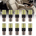 10pcs T10 194 W5W 24 SMD 3014 LED Strobe Wedge Car Reading Light Bulbs White Reading Light Bulbs LED Reading Bulbs