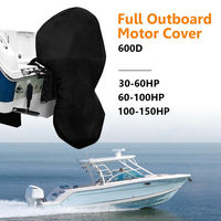 600D Fabric 60 150HP Boat Engine Cover Full Outboard Motor Cover Waterproof Oxford Cloth 3 Size