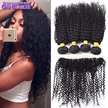 Malaysian Virgin Hair With Closure 13×4 Full Lace Frontal Closure With Bundles Malaysian Curly Hair 3 Bundles With Lace Closure