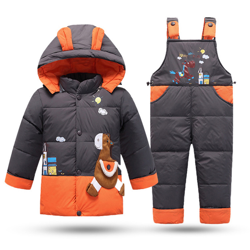 2018 Baby Clothing Sets Winter Down Jackets For Girls Kids Snowsuit Baby Boys Warm Down Jackets Outerwear Coat Jackets+Jumpsuit цена 2017