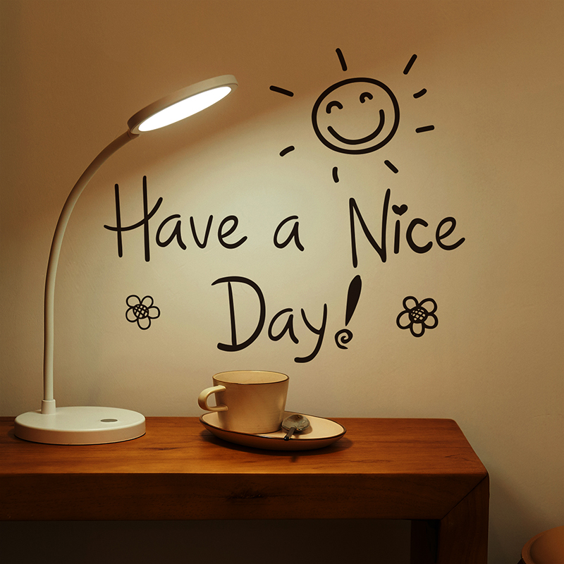 [SHIJUEHEZI] Have a Nice Day Wall Stickers Vinyl DIY Decorative English Alphabets Wall Decals for Living Room Office Decoration