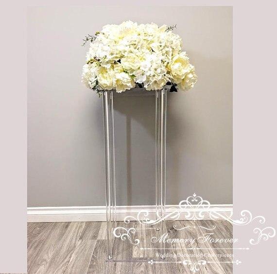 Acryl Vloer Vaas Helder Bloemenvaas Tafel Middelpunt Voor Huwelijk Moderne Vintage Bloemen Stand Kolommen Voor Bruiloft Decoratie-in Feest Doe het zelf Decoraties van Huis & Tuin op  Groep 1