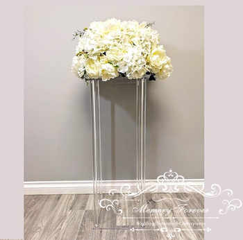 Acrylic Floor Vase Clear Flower Vase Table Centerpiece For Marriage Modern Vintage Floral Stand Columns For Wedding Decoration - DISCOUNT ITEM  0% OFF All Category