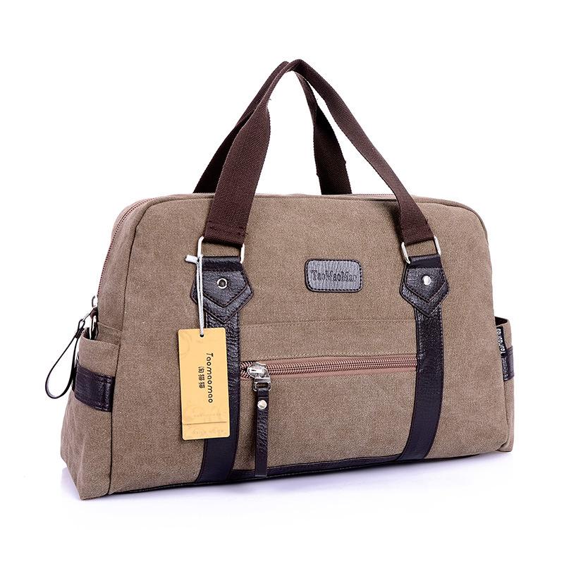 Prix pour Nouveaux hommes de Mode casual toile voyage polochon d'épaule messenger souple poignée sacs pour hommes hommes sacs de voyage