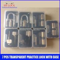 Hot Sale 7 Pcs Transparent Cutaways Practice Lock Picks Skilling Set Tools With Case