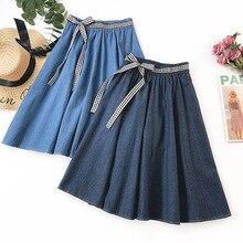 2019 Women Fashion Summer high waist pleated skirt Wind Cosplay kawaii Female Skirts Bow