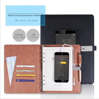 Multifunctional Creative 8000mAh Power Bank Loose-leaf Business Notebook With 8GB U Disk Spiral Dairy Planner Birthday Gift