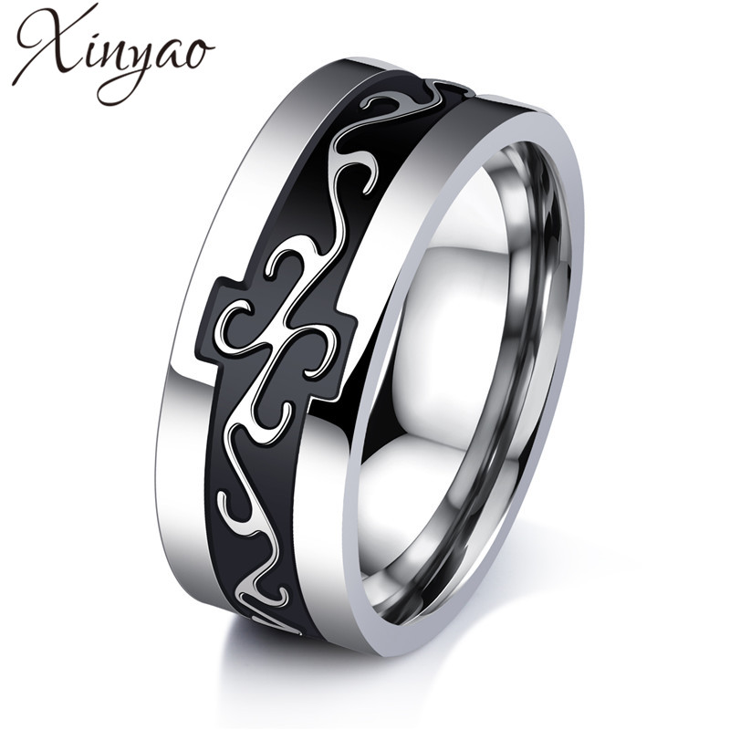 XINYAO 2017 Retro Titanium Stainless Steel Male Ring