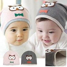 Unisex Cotton Owl Beanie New Born Baby Boy Girl Soft Toddler