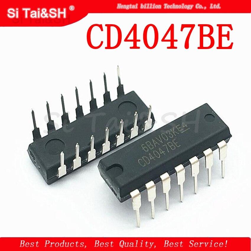10PCS CD4047BE DIP14 CD4047 DIP New And  Original IC Logic-multi-frequency Oscillator